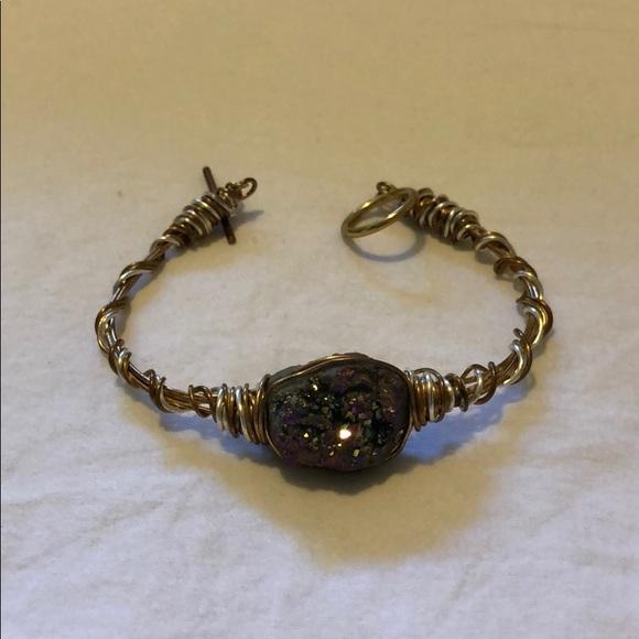 Jewelry - NEW handmade druzzy gem bracelet